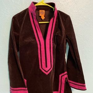 Tory Burch Pink and Brown Tunic